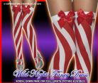 CHRISTMAS FANCY DRESS # RED CANDY STRIPE STOCKINGS